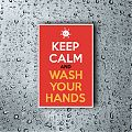 Vinilo adhesivo decorativo KEEP CALM AND WASH YOUR HANDS 06872