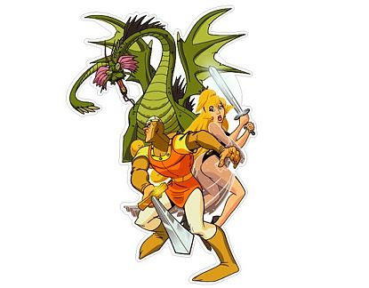 Sticker decorativo recreativas arcade Dragon Lair 01654