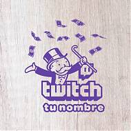Vinilo decorativo editable - personalizado para streamers de TWICH 07688