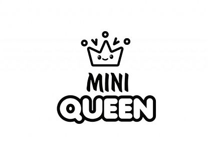 MINI QUEEN - Vinilo decorativo infantil decoración de paredes 06267