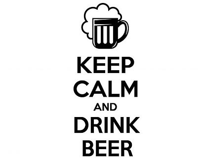 Vinilos Adhesivos Bares keep calm and drink beer 03266