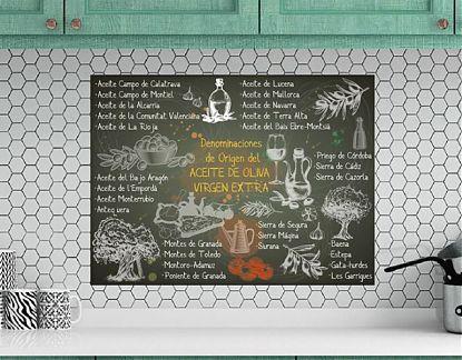 Vinilos Decorativos Mallorca.Mural Impreso Sobre Vinilo Adhesivo Pizarra Con Las