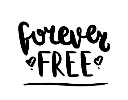 Vinilo decorativo de pared forever free 05155