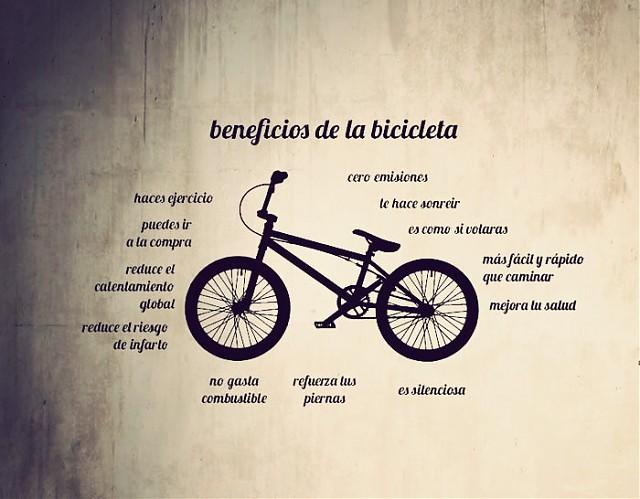 Vinilos Textos Y Frases Beneficios De La Bicicleta 02749