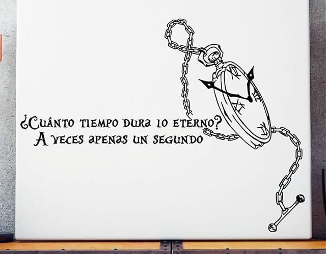 Vinilo Con Una Frase De Alicia En El País De Las Maravillas