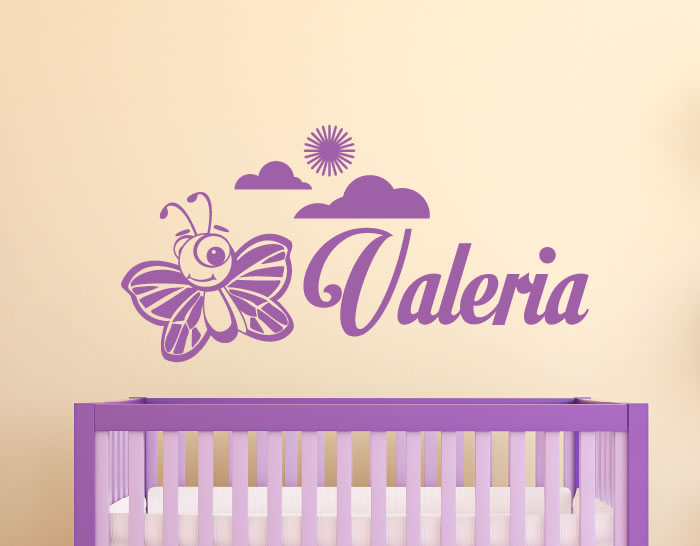 Vinilo decorativo con nombre para decorar paredes for Ideas para decorar paredes infantiles