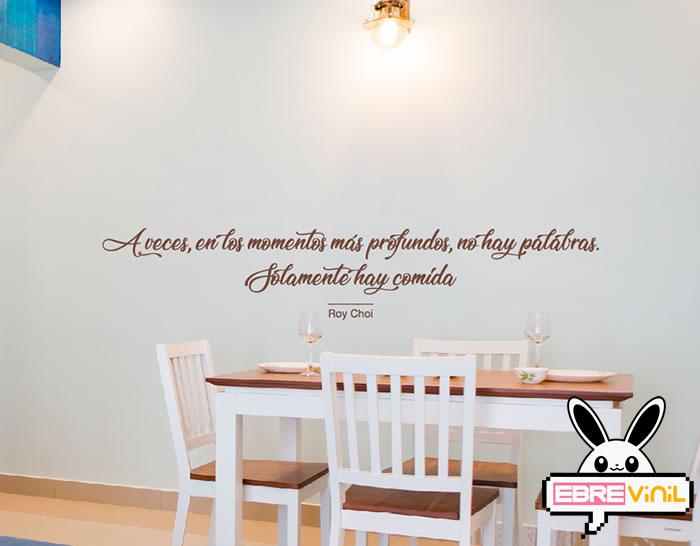 Vinilos decorativos para la cocina con frases y textos de ...