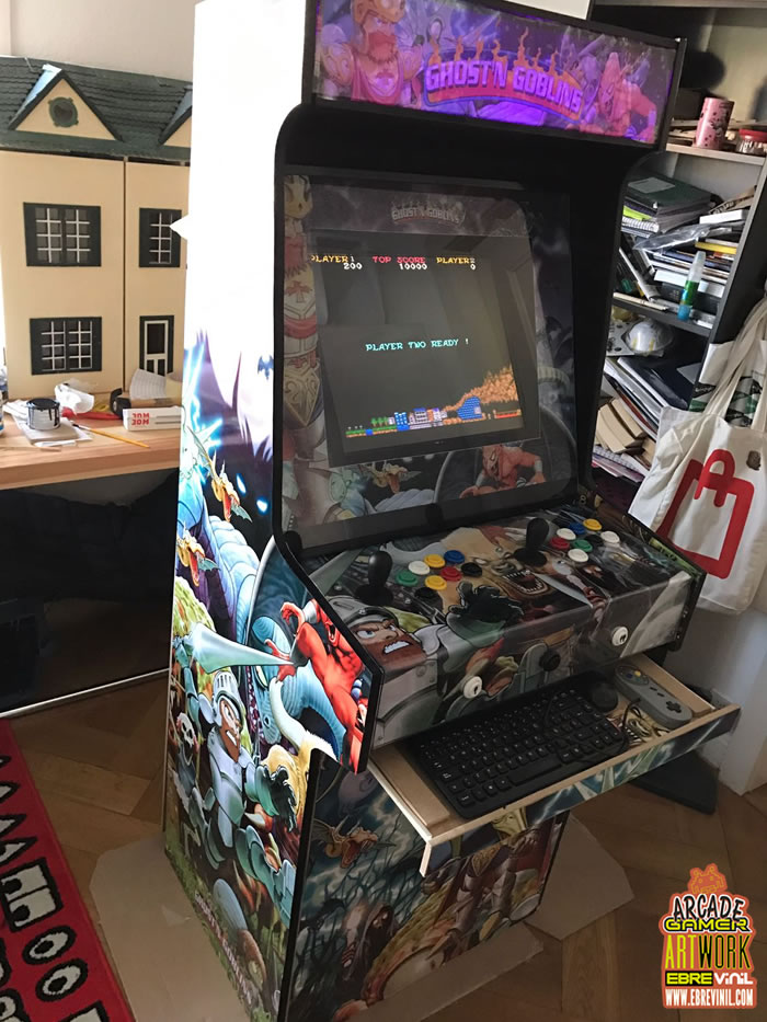 artwork vinilo adhesivos muebles bartop recreativas arcade
