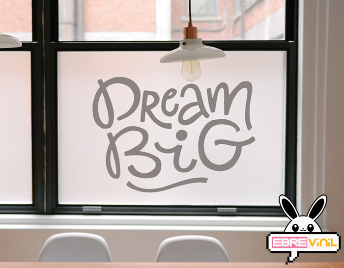 "Vinilo decorativo para paredes ""DREAM BIG"""