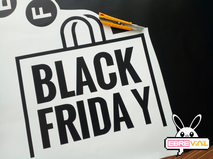 Vinilo escaparate Black Friday, Vinilos Black Friday para tiendas
