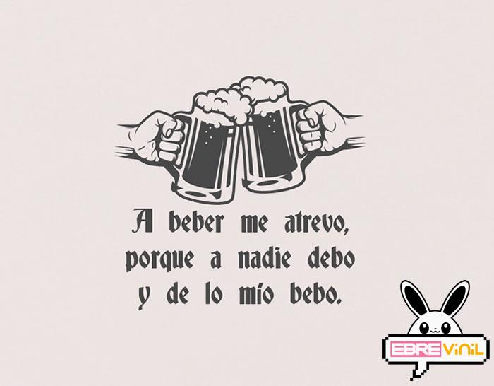 Vinilo Decorativo Frases Y Textos Sobre Cervezas 05468 Los