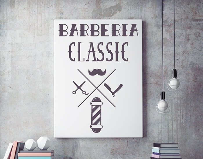 vinilo barberia clasica paredes escaparates