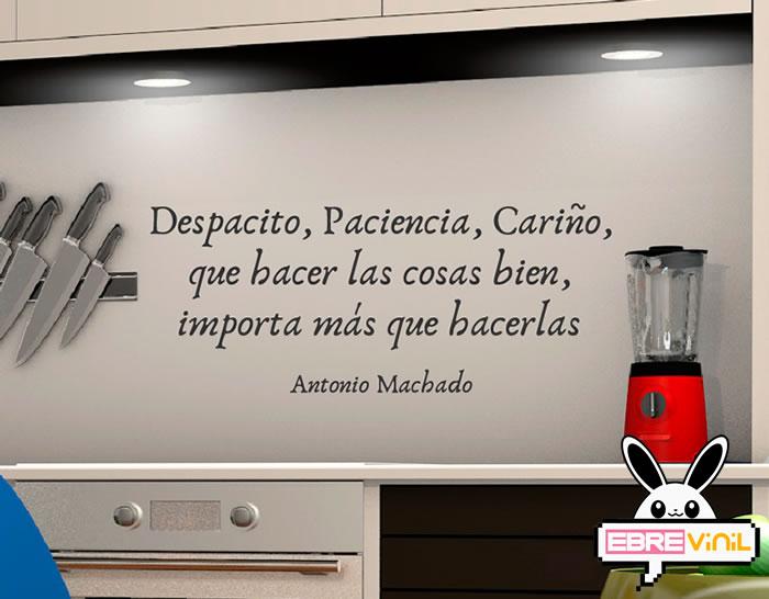 Vinilo Decorativo De Texto Con Una Frase De Antonio Machado