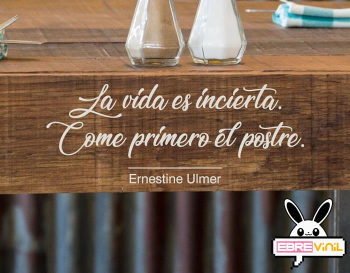 Vinilo Decorativo Frases De Gastronomía Y Cocina 06548 Los