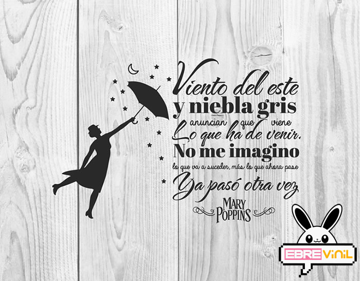 vinilo decorativo frase mary poppins