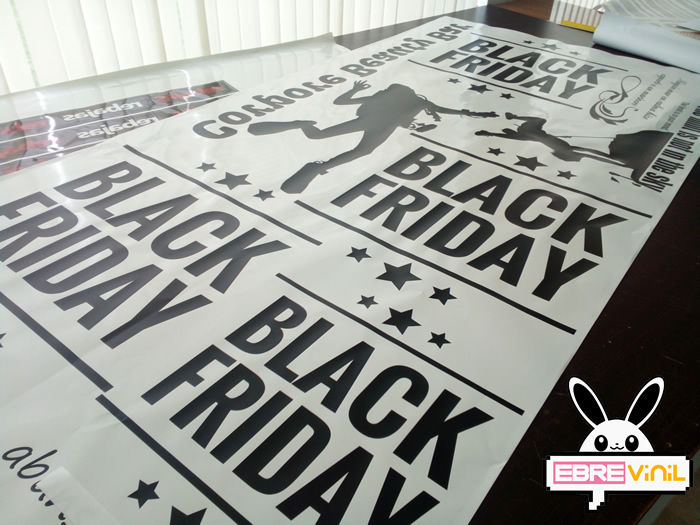 vinilo adhesivo personalizado black friday escaparates, cristales