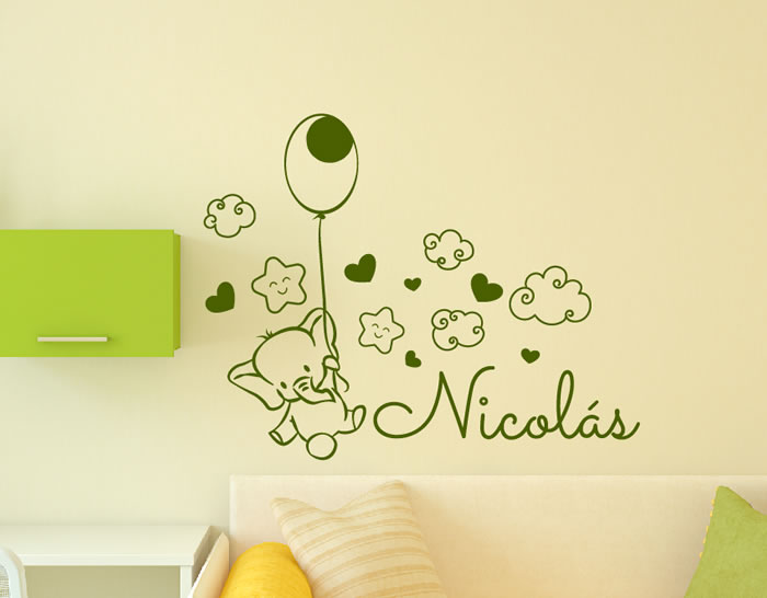 Murales Y Vinilos Para Habitaciones Infantiles.Vinilos Infantiles Nombre Bebe Personalizados Para La