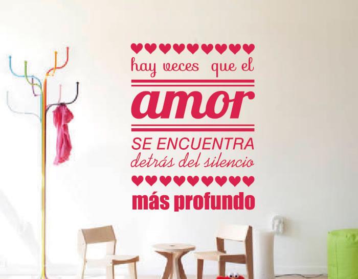 Adhesivo En Vinilo Frases De Amor Hay Veces Que El Amor Se